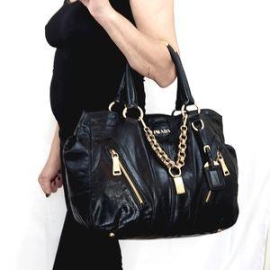 Prada Vitello Leather Shoulder Tote Stunning!